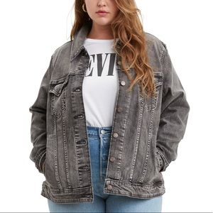 Levi's Faded Black/ Gray denim jacket